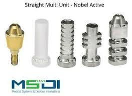 Details About Straight Multi Unit Abutment Set Nobel Active Dental Implants Conical Implant