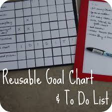 To Do List Charts The Red Kitchen Reusable Goals Chart To Do List