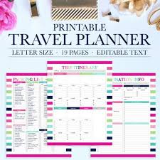 Printable Travel Planner Jessica Marie Design