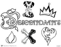 Descendants Coloring Pages Evie 2 And Mal Disney Jay Awesome Desce