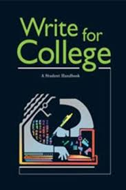 write for college a student handbook  9780669444025 write for college a student handbook