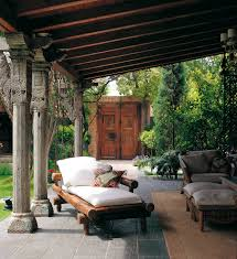 eclectic outdoor furniture. Covered Outdoor Patios Patio Mediterranean With Area Rug Bamboo Courtyard Eclectic Furniture