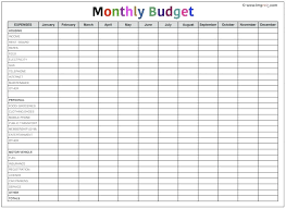 budget spreadsheet printable 12 printable monthly budget template fax coversheet
