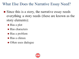 narrative essays ppt video online what else does the narrative essay need