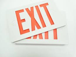 Emergi Lite Exit Lights Nib Emergi Lite Thomas Betts Eclxn4r White Red Led Self