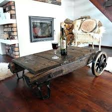 vintage factory furniture. Antique Industrial Cart Vintage Coffee Table Reclaimed Wood On Factory Furniture