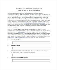 printable questionnaire template. Printable Doc Research Questionnaire Template Word Company Website