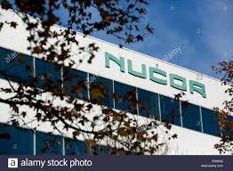 a logo sign outside of the headquarters of the nucor corporation in charlotte north carolina on november 28 2018