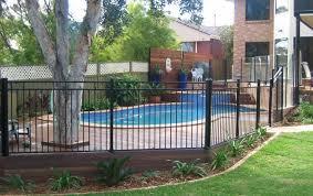 black aluminium pool fencing