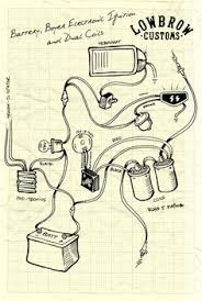 simple motorcycle wiring diagram for choppers and cafe racers lowbrow customs motorcycle wiring diagram boyer electronic ignition and dual coils