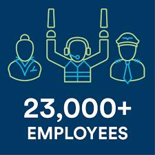 23000 employees