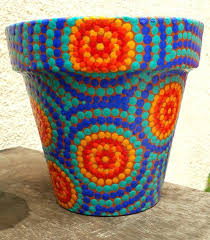 hand painted flowerpots a a painted clay flower pots