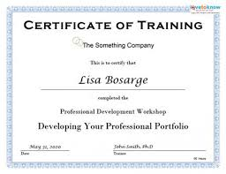 Certificate Of Training Completion Template Training Course Certificate Template Certificate Of