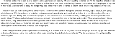 essay on violence on television essay on violence on television