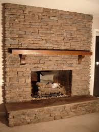 Decorations:Cool Rock Stone Fireplace Wall Idea Rock Fireplaces With Stone  Wall Decorating Architecture Idea