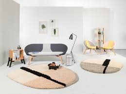 nudo rug large white beige rose by ames