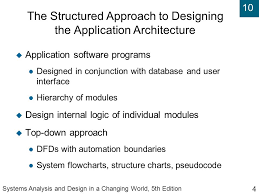 Flowchart And Structure Chart Systems Analysis And Design In A Changing World Fifth