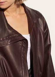 asymmetrical leather jacket vince