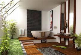 Tranquil Bathroom Fascinating Bathroom Corner Showcasing Free Standing Bathtub And