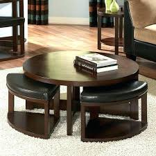 coffee table with ottoman seating underneath round coffee table with seating underneath coffee table with ottomans