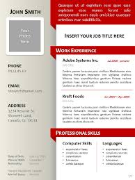 PSD One Page Resume Templates