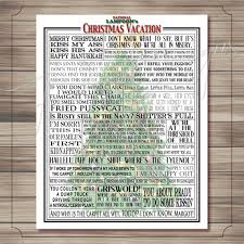 Christmas Vacation Quotes Best National Lampoon Christmas Vacation Movie Quotes Print Etsy
