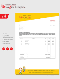 School Invoice Template Enticing Kindergarten School Invoice Template Invoice Template for 1