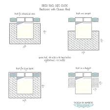 area rug placement queen bed in small room for bedroom ideas with rug dimensions what