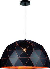 Bolcom Lucide Otona Hanglamp ø 60 Cm E27 Zwart