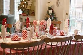 Candy Cane Theme Decorations Candy Cane Table Theme Cute Kids' Tablescape 38