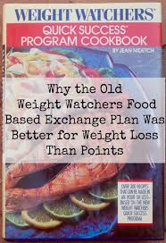 Weight Watchers Turnaround Program Points Chart Old Weight Watchers Exchange Program 1980s 1990 Quick Start