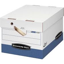 Bankers Presto Maximum Strength Storage Box LetterLegal  12ct