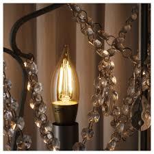 Lunnom Led Bulb E14 200 Lumen Dimmablechandelier Brown Clear Glass