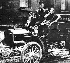henry ford and his wife and son. henry and edsel 1905 ford his wife son