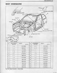 i have included the pages in the factory service manual showing measurements so it can be double checked to make sure the car stays square