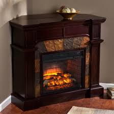 45 5 cartwright faux stone corner infrared fireplace espresso