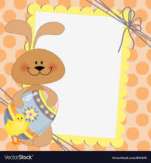 Cute Template Cute Template For Easter Postcard Royalty Free Vector Image