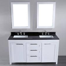 double sink bathroom vanity with top. bosconi 60-in contemporary double sink bathroom vanity with granite top t