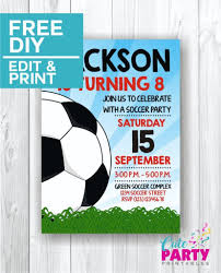 Soccer Party Invitations Soccer Party Invitations Cute Party Printables