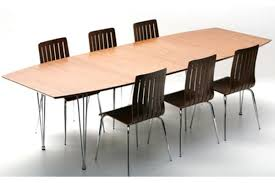 Casa Padrino Designer Conference Table Walnut Chrome