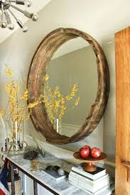 wood frame wall mirror round wall mirror with wooden frame large wood frame wall mirror