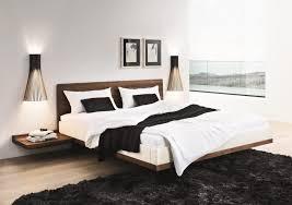 Riletto solid wood platform floating bed