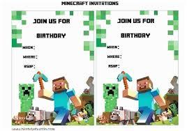 Minecraft Birthday Invitation Template Minecraft Birthday