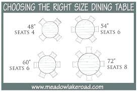 dining table measurements person dimensions round size for in mm