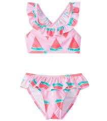 Snapper Rock Girls' Watermelon Ruffle Bikini Set (2T-10) at ...