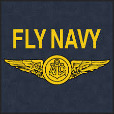 fly navy commissioned officer wings rug