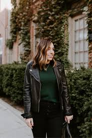 madewell washed leather moto jacket faux leather alternative option for 88 j crew everyday cashmere sweater madewell on high waist ankle jeans