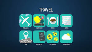 Animated Travel Map Travel Icon Set Animation Airline Suitcase Food Stock Footage Video 100 Royalty Free 10570562 Shutterstock