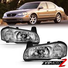 2001 Nissan Maxima Lights Details About For 00 01 Nissan Maxima Replacement Headlight Center Low Beam Lamp Assembly Pair