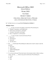 Cover Letter Resume Wizard Online Best Photos Microsoft Word